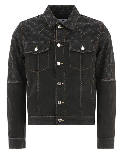 "MARINE SERRE Black ""moon"" Denim Jacket for men"