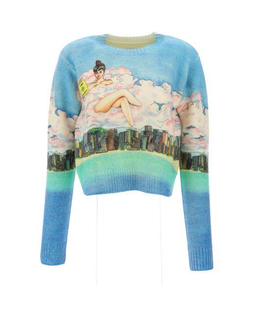 CASABLANCA Blue Sweaters & Knitwear