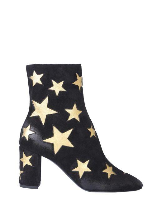 Saint Laurent Lou 50mm Star Black Boots