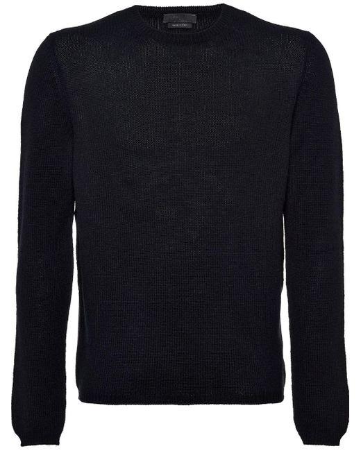 Prada Black Cashmere Crew Neck Sweater for men