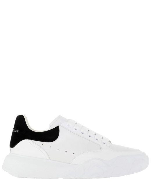 """Alexander McQueen White """"runner Oversize"""" Sneakers for men"""