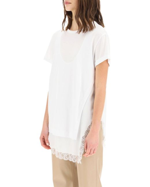 N°21 White T-shirt With Tank-top