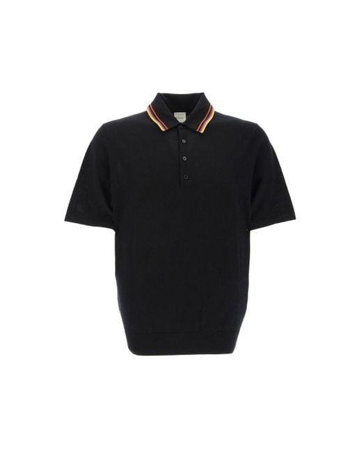 Paul Smith Black Polo Shirts for men