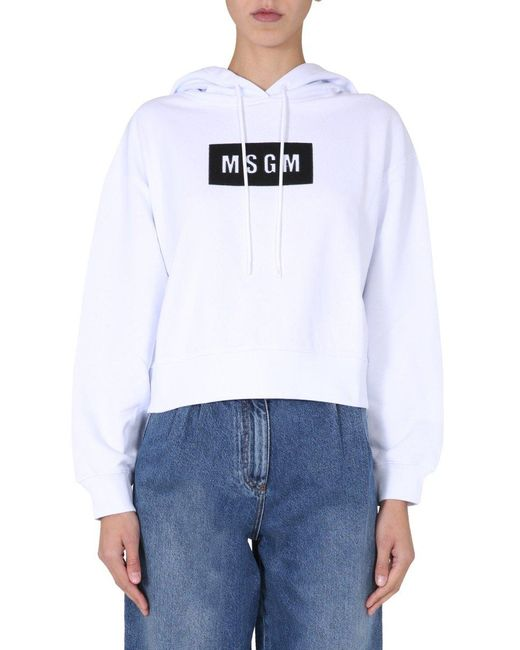MSGM White Regular Fit Sweatshirt