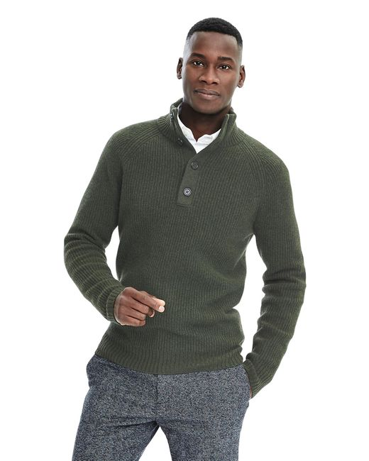Banana Republic | Green Heritage Marled Cable-knit Pullover for Men | Lyst