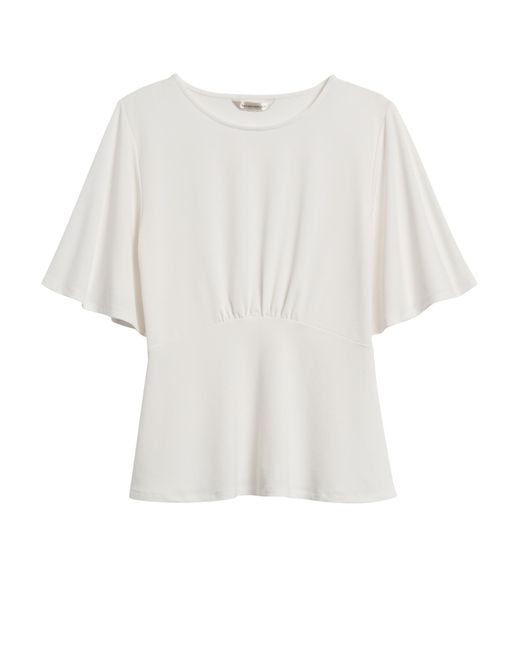 Banana Republic White Bell-sleeve Top
