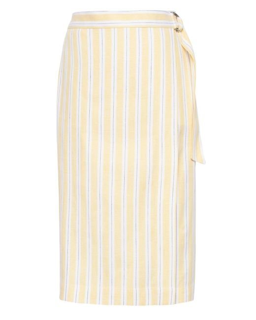 Banana Republic Natural Linen-cotton Wrap Skirt