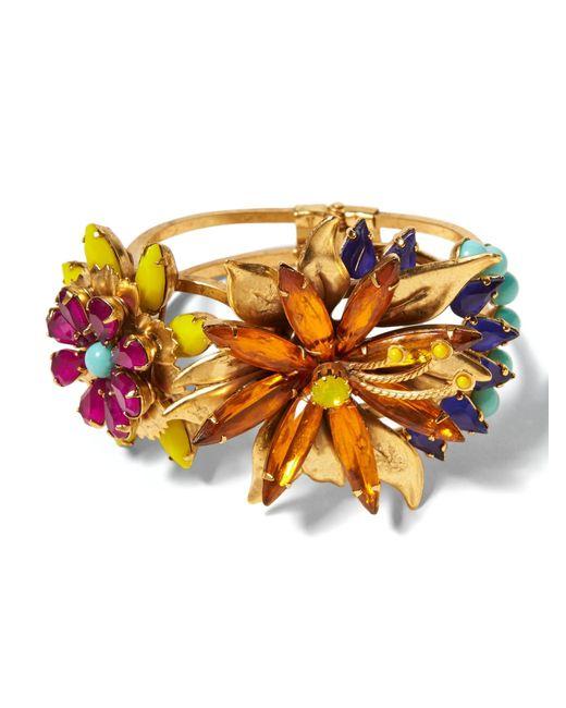Banana Republic - Metallic Elizabeth Cole   Tropical Flower Bracelet - Lyst