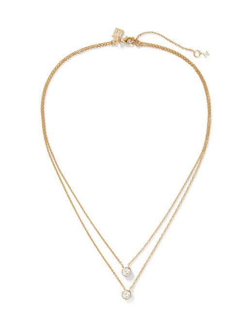 Banana Republic - Metallic Embedded Stone Layer Pendant Necklace - Lyst