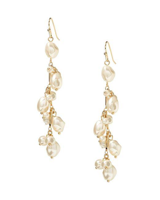 Banana Republic - Metallic Soft Pearl Linear Earring - Lyst