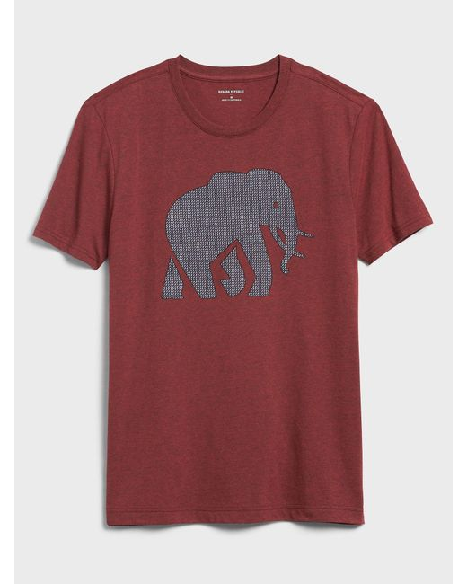 Banana Republic Factory Textured Elephant Graphic T-shirt for men
