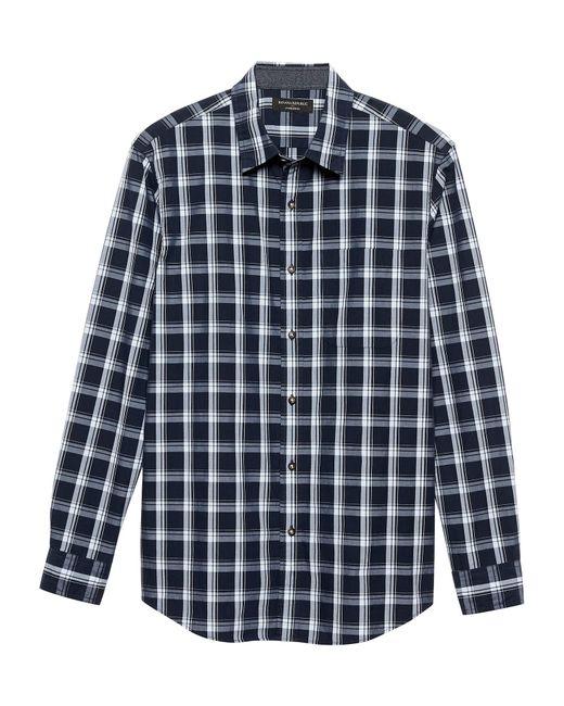 Banana Republic Factory - Blue Standard-fit Jaspe Shirt for Men - Lyst