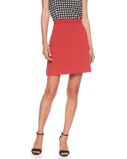 Banana Republic Factory - Red Scallop Waist A-line Skirt - Lyst