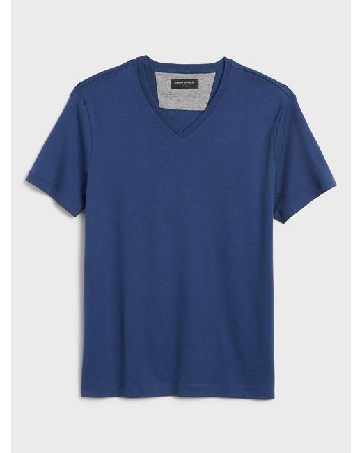 Banana Republic Factory Blue V-neck Dress T-shirt for men