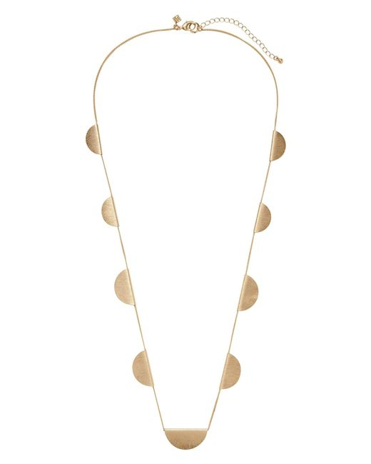 Banana Republic Factory - Metallic Brushed Gold Station Necklace - Lyst