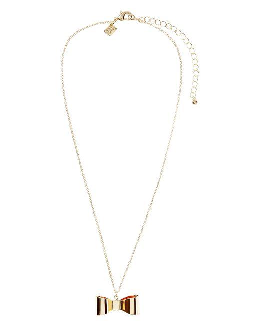Banana Republic Factory - Metallic Bow Necklace - Lyst