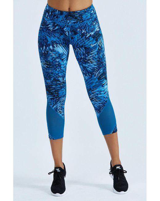 Nike | Blue Power Epic Lux Crop | Lyst