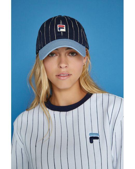 Fila - Blue Baseball Hat - Lyst