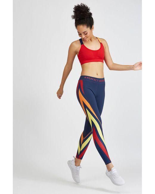Perfect Moment - Blue Diagonal Striped Legging - Lyst
