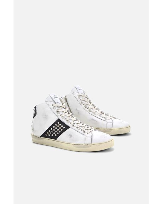 Leather Crown Leather Iconic Stud High