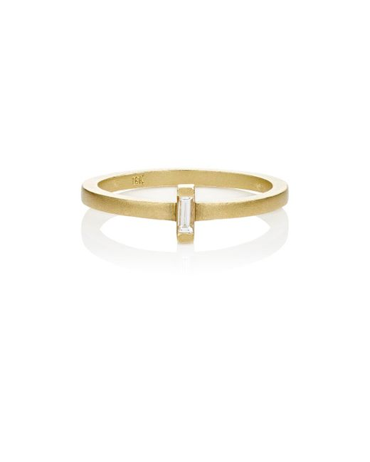 Tate | Metallic Baguette White Diamond Ring | Lyst
