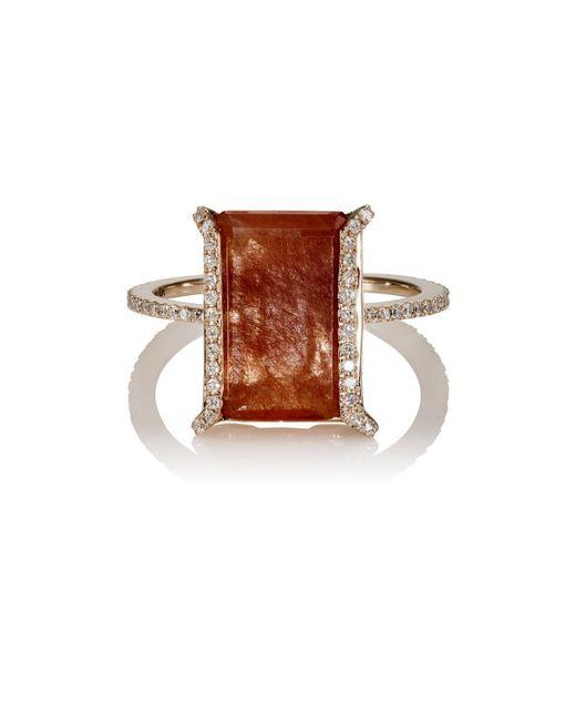 Monique Péan | Brown White Diamond & Rutile Ring | Lyst