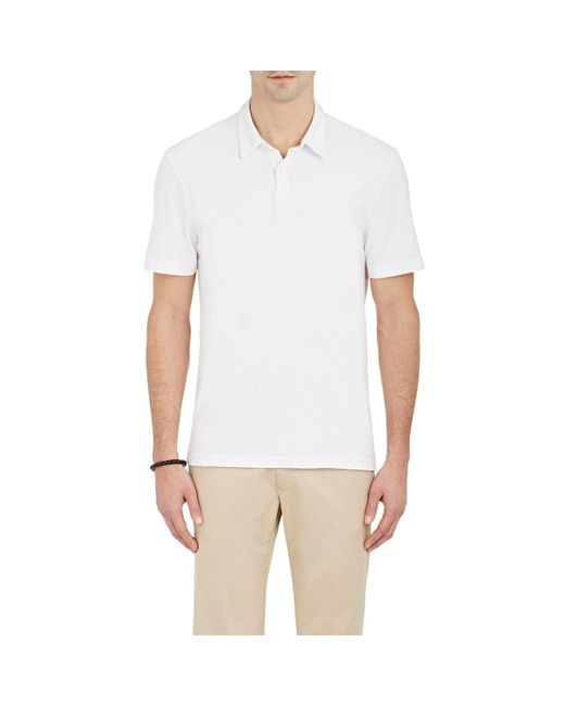 James Perse | White Jersey Polo Shirt for Men | Lyst