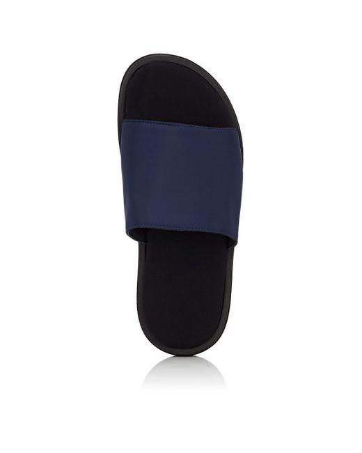 7167181a1 ... Barneys New York - Blue Neoprene Slide Sandals for Men - Lyst