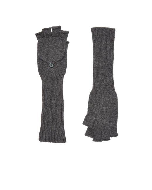 Barneys New York - Gray Fingerless Gloves - Lyst