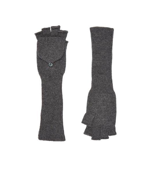 Barneys New York | Gray Fingerless Gloves | Lyst