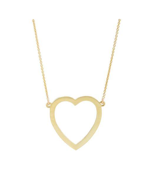 Jennifer Meyer - Metallic Large Open Heart Pendant Necklace - Lyst