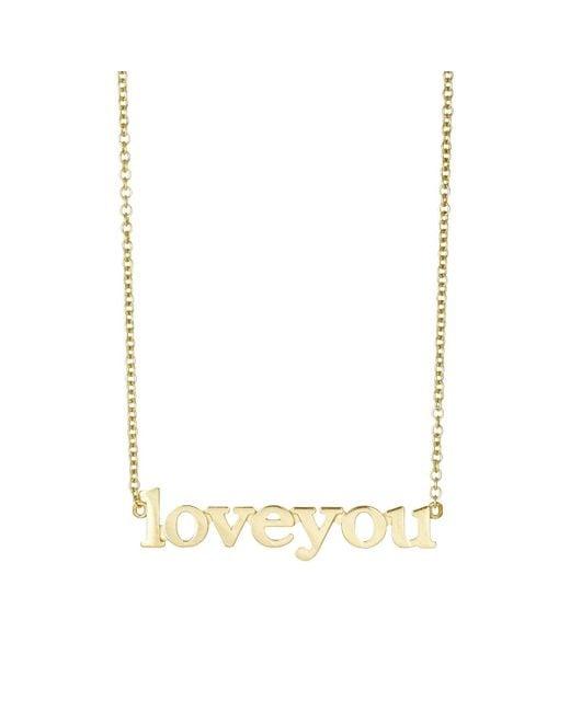 Jennifer Meyer - Metallic love You Pendant Necklace - Lyst