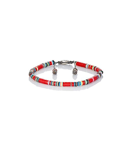 M. Cohen - Red Rondelle Bracelet for Men - Lyst