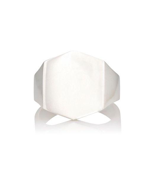Loren Stewart - White Hex Ring - Lyst