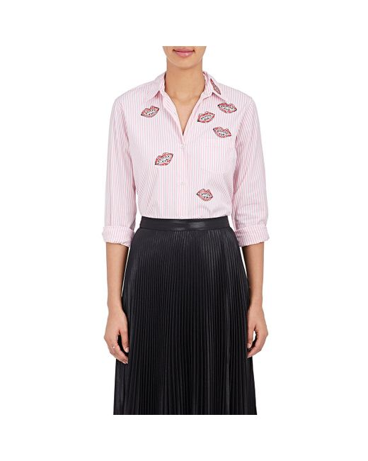 Jimi Roos | Pink Lips Cotton Poplin Shirt | Lyst