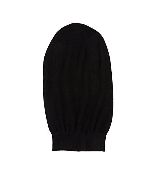 Rick Owens - Black Cashmere Oversized Beanie for Men - Lyst