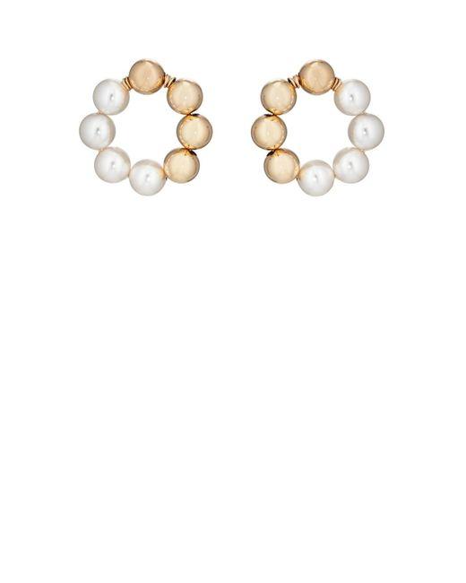 Beck Jewels - Metallic Large Og Pearl Hoop Earrings - Lyst