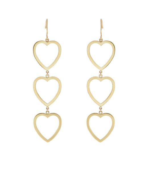 Jennifer Meyer - Metallic Open Heart Triple - Lyst
