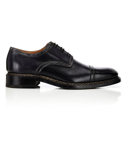 Harris | Black Cap-toe Bluchers for Men | Lyst