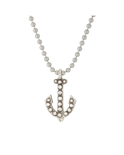 Giles & Brother - Metallic Anchor Pendant Necklace for Men - Lyst