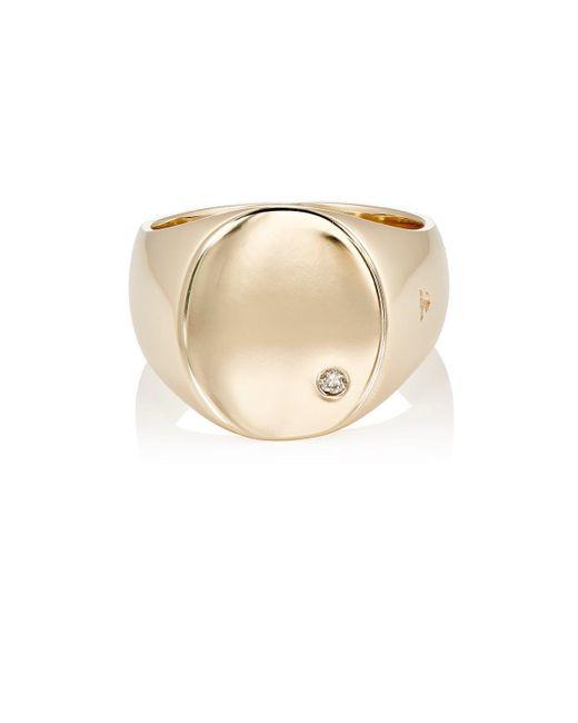 Tom Wood - Metallic Oval Top Diamond Ring - Lyst