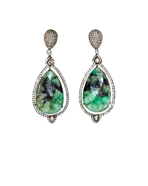 Carole Shashona | Green Spectrum Goddess Earrings | Lyst