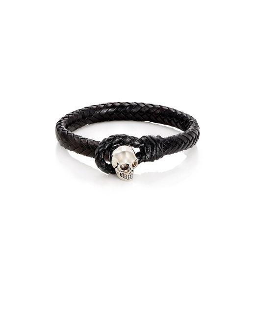 Alexander McQueen   Black Braided Leather Bracelet for Men   Lyst