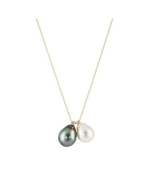 Samira 13 Metallic Tahitian Pearl Pendant Necklace