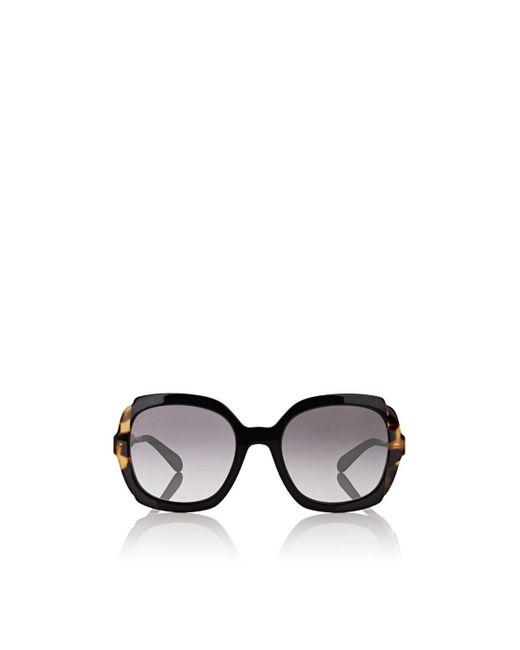 Prada - Black Oversized Square Sunglasses - Lyst