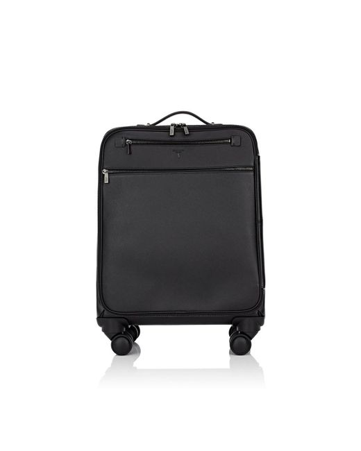 Serapian - Black Evolution 21 Leather Carry-on Trolley for Men - Lyst