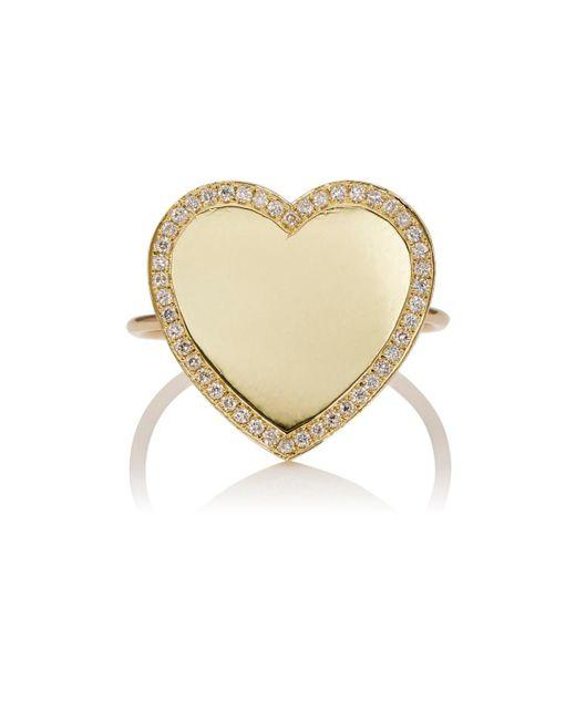 Jennifer Meyer Yellow Heart Ring Size 6