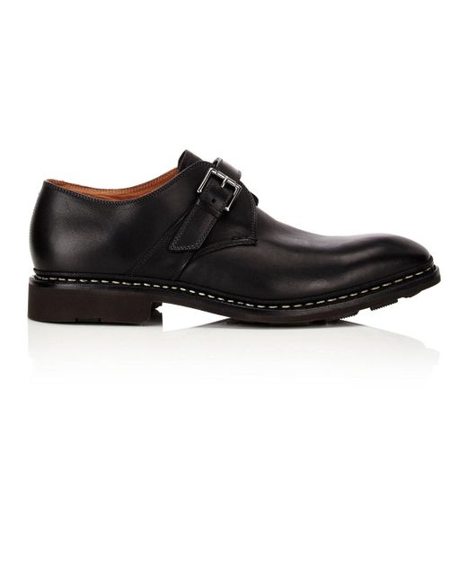 Heschung - Black Noyer Leather Monk Shoes for Men - Lyst