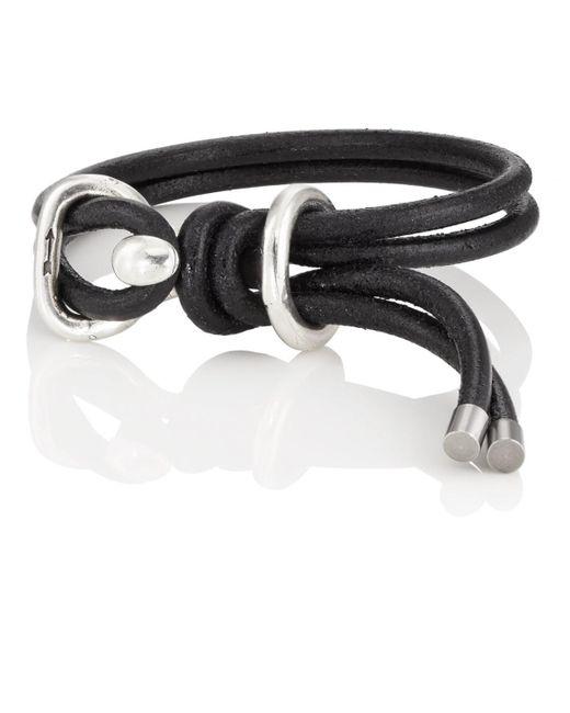 Giles & Brother - Black Leather Wrap Bracelet for Men - Lyst