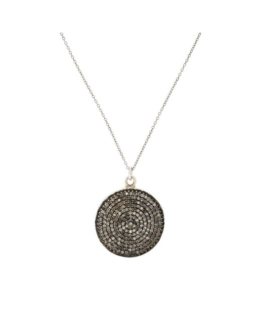 Feathered Soul - Metallic Sterling Silver & Diamond Pendant Necklace - Lyst